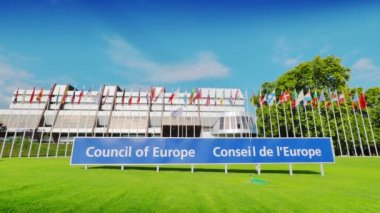The Council of Europe in Strasbourg — Stock Video