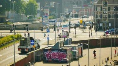 Urban city scenery of the Amsterdam — Stock Video