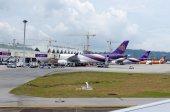 Airplane thailand — Stock Photo