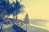 Spiaggia retrò — Foto Stock