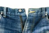 Zipper jeans — Stock Photo