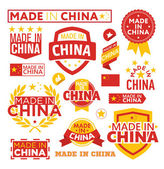 Labels made in China — 图库矢量图片