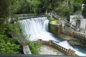 Falls on the river — Stock Photo