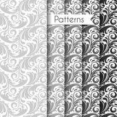 Seamless mönster set — Stockvektor