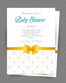 Baby shower card template — Stock Vector