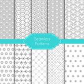 Set of geometric seamless patterns — Stock Vector