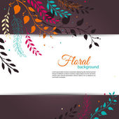 Floral design template — Stock Vector