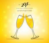 бокала шампанского — Cтоковый вектор
