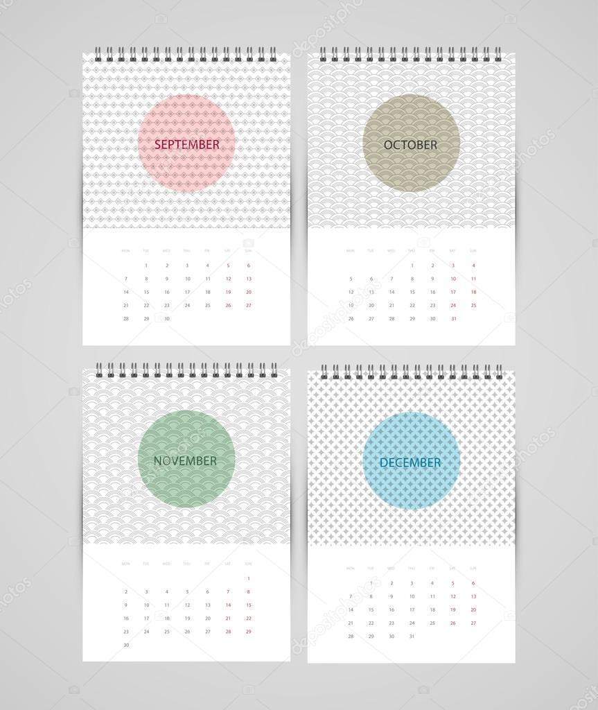 年日历的矢量图
