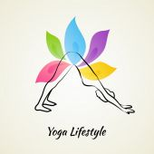 Beautiful woman doing yoga — Stock Vector