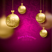 Christmas card with balls background — Stockvector