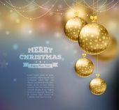 Рождественские шары шаблон фона — Cтоковый вектор