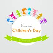 Universal Children day poster — Stock Vector