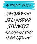 Alphebet set brush style — Stock Vector