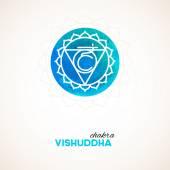Color chakra watercolor design — Stock Vector