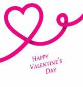 Feliz de San Valentín, corazón Rosa — Vector de stock
