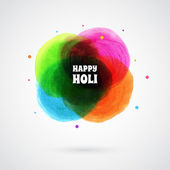 Happy Holi card template — Stock vektor