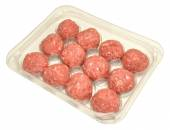 Pack Of Raw Meatballs — Stock Photo