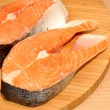 Fresh Uncooked Salmon Steaks — Stock Photo #53796977