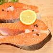 Fresh Uncooked Salmon Steaks — Stock Photo #53797271