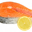 Fresh Uncooked Salmon Steaks — Stock Photo #54213725