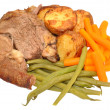 Roast Lamb Meal — Stock Photo #55577625