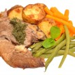 Roast Lamb Meal — Stock Photo #55577647