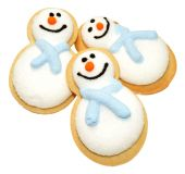 Christmas Snowman Biscuits — Stock Photo