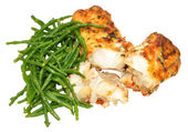 Grilled Fish With Samphire — Stock Photo