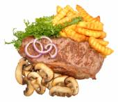 Steak And Mushroom Meal — Stock Photo