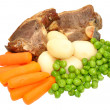 Lamb Chops And Vegetables Meal — Stock Photo #62038769