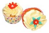 Two Vanilla Cupcakes — Stock Photo