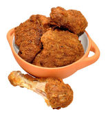 Southern Fried Chicken Portions — Zdjęcie stockowe