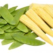 Baby Sweet Corn And Mangetout Peas — Stock Photo #66231059