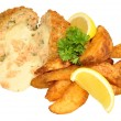 Cheese Filled Salmon Fish Cakes — Stock Photo #70765901
