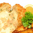 Cheese Filled Salmon Fish Cakes — Stock Photo #70766009