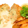 Cheese Filled Salmon Fish Cakes — Stock Photo #70766059