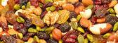 Fruta y fondo de tuerca — Foto de Stock