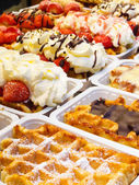 Belgian Waffle Stand — Stock Photo