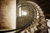 Old stairs in retro style — Stock Photo