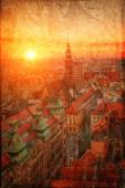 View of the old town in a retro style Wroclaw, Poland — Stock Photo