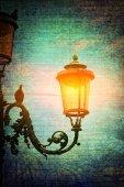Venetian street lamp in retro style — Stock Photo