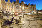 Wroclaw Old Town in the evening. — Stock Photo