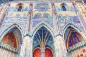 Mosaic of the Last Judgement St. Vitus Cathedral — Stockfoto