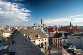 The view from the tower of the University of Wroclaw — Stock Photo