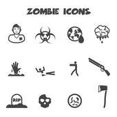 Zombie icons — Stock Vector