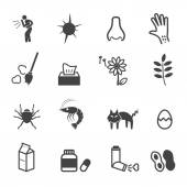 Allergies icons — Stock Vector