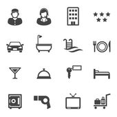 Hotel and resort service icons — Stock Vector