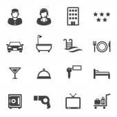 Hotel and resort service icons — Wektor stockowy