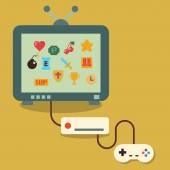 Retro video game — Stock Vector